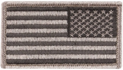 Foliage Reverse American Flag Patch Hook Loop