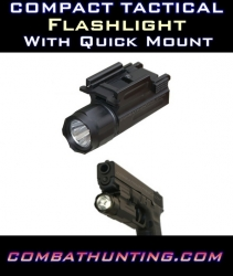 Compact Tactical Rail Mount Flashlight