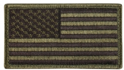 Od Green And Black American Flag Patch Hook Loop