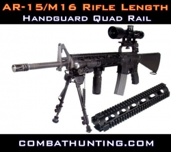 AR-15 M-16 Handguard Quad Rail Rifle Length USA
