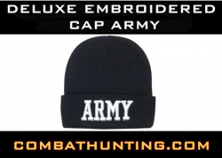 Deluxe Embroidered Watch Cap ARMY