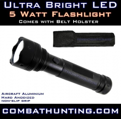 Ultra Bright LED Flashlight 5 Watt 2D 180 lumens