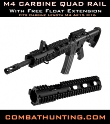 AR-15 Extended M4 Carbine Quad Rail Made In USA