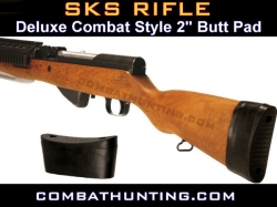 SKS Rifle Butt Pad Combat Style 2""