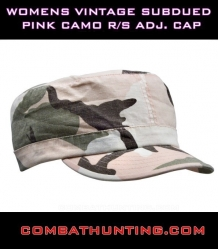 Womens Vintage Subdued Pink Camo Cap