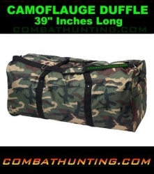 "Woodland Camo Duffel Bags 39"" Long"