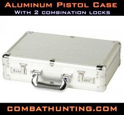 Aluminum Pistol Case With Locks