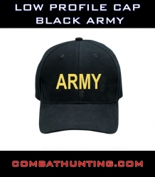 Low Profile Cap Black Army