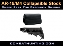 Collapsible AR-15/M4 Carbine Stock Cheek Rest