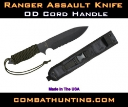 Ranger Assault Knife OD Cord Handle