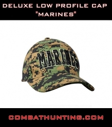 Deluxe low pro cap woodland digital marines