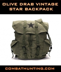 Olive Drab Vintage Star Back Pack