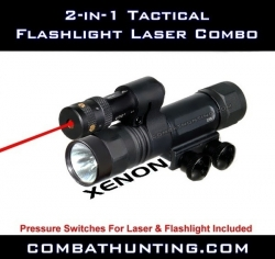Tactical Red Laser Flashlight Combo