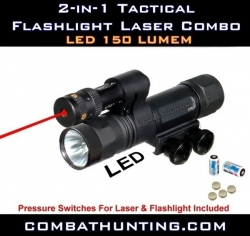 Tactical Red Laser LED Flashlight Combo