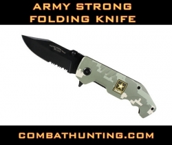 Army Strong Folding Knife