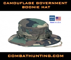 Boonie Hat Camouflage Government Size 7.75