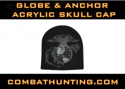 Globe and Anchor Acrylic Skull Cap