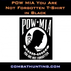 Pow Mia You Are Not Forgotten T-Shirt In Black