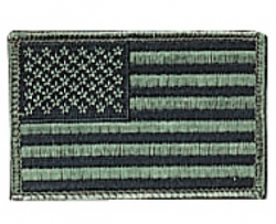 "Subdued U.S. Flag Patch. 2""X3"""