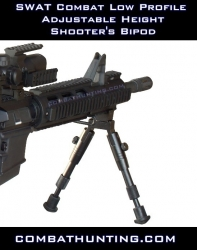Swat Combat Low Profile Adjustable Height Bipod