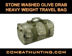 Stone Washed Olive Drab Heavy Weight Travel Bag
