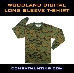 Woodland Digital Camo Long Sleeve T-Shirt