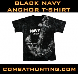 Intage Black 'Navy Anchor' T-Shirt
