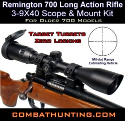 Remington 700 Long Action Rifle Scope & Mount Kit