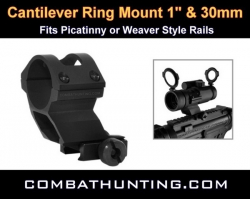 "Cantilever Ring Mount 1"" & 30mm Weaver Style"