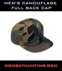 Mens Camouflage Full Back Cap