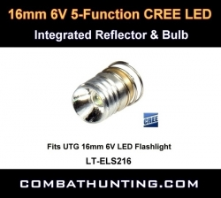 UTG 16mm 6V 5-function LED Reflector & Bulb