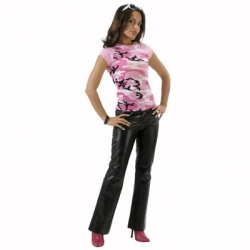 Women'S Pink Camo Short Sleeve Raglan T-Shirt