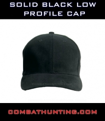Solid Black Low Profile Cap
