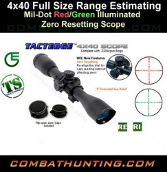Leapers 4x40 Full Size Range Estimating Red Green
