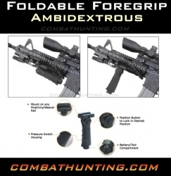 UTG Ambidextrous 5-position Foldable Foregrip