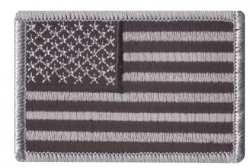 Black Grey U.S. Flag Patch 2'' x 3''