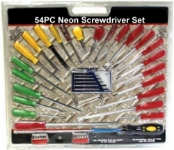 Neon Screwdriver Set 54 Piece