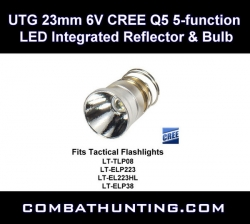 UTG 23mm 6V CREE Q5 5-function LReflector & Bulb