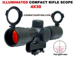 AR15 Scope and Mount 4X30 Illuminated Rangfinder