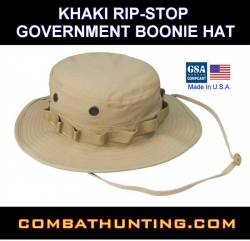 Boonie Hat Khaki Rip-Stop Government Size 7.25