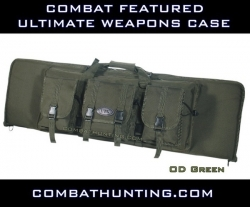 "Ultimate Combat Weapons Case 46""  OD Green Molle"