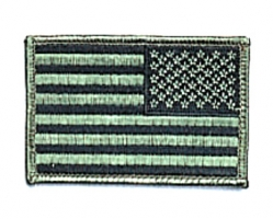 "Reverse Subdued U S Flag Patch 2"" X 3"""