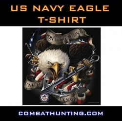 US Navy Eagle T Shirt Black Ink Design