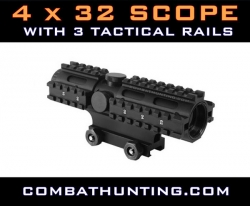 4x32mm Tactical Scope With Rails