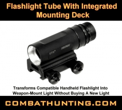 UTG Flashlight Tube With Integrated Mounting Deck