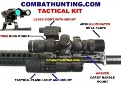 AR-15 M-16 Tactical Scope Laser Flashlight Kit