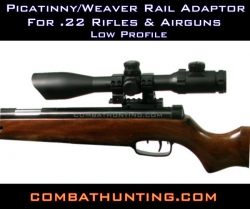 .22 Weaver Picatinny Rail Adaptor