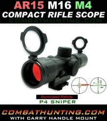 AR15 Scope and Mount 4X30 Illuminated Reticle P4