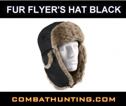 Fur Flyer's Hat Black