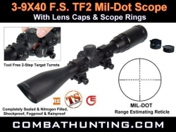 Leapers UTG 3-9X40 F.S. TF2 Mil-dot Scope  Target Turrets